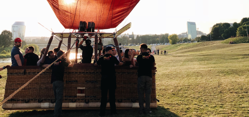 take a hot air balloon ride in the rocky mountains